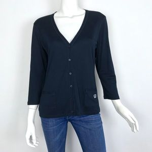 {Weekend MaxMara} Navy Cardigan Sweater
